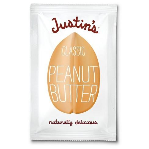 11235ec475e Justin s Square Pack Classic Peanut Butter - 1.15oz   Target