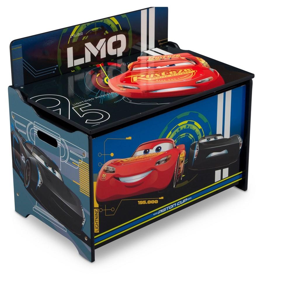 Delta Children Disney/Pixar Cars Deluxe Toy Box, Multi-Colored