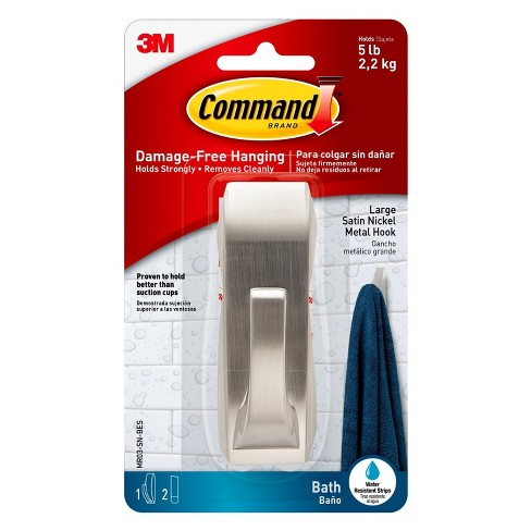 Command™ Modern Reflections Hook with Water-Resistant Strips Large - image 1 of 8