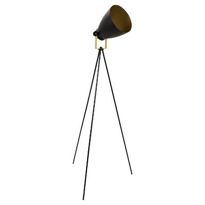 """58"""" Grammy Reader Lamp Black/Gold - LumiSource"""