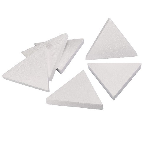 6 Pack Triangle Polystyrene Foam, Painting Activity for Kids, DIY Toy Puzzle, Arts & Crafts Supplies for School Project, 8 inches - image 1 of 2
