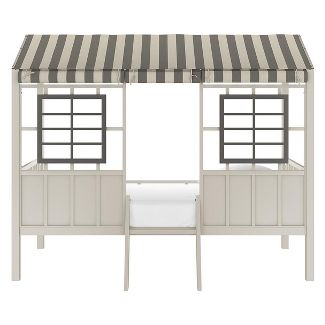 Little Seeds Twin Rowan Valley Forest Loft Bed Gray/Taupe