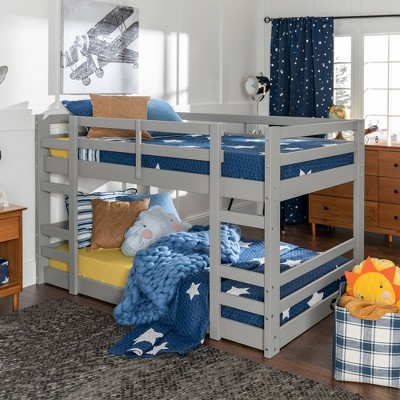Twin Low Wood Bunk Bed - Saracina Home