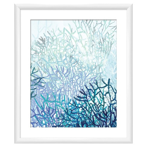 18 X 22 Matted To 2 Coral Reefs Picture Framed White Ptm Images Target