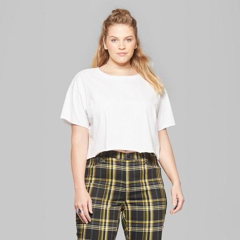 64e6bda5b46 Women's Plus Size Short Sleeve Boxy Cropped T-Shirt - Wild Fable ...