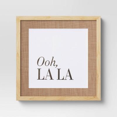 "16"" x 16"" Ooh La La Framed Wall Poster - Opalhouse™"