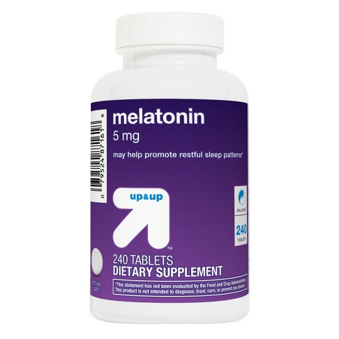 Melatonin 5mg Dietary Supplement Tablets - 240ct - Up&Up™ - image 1 of 2
