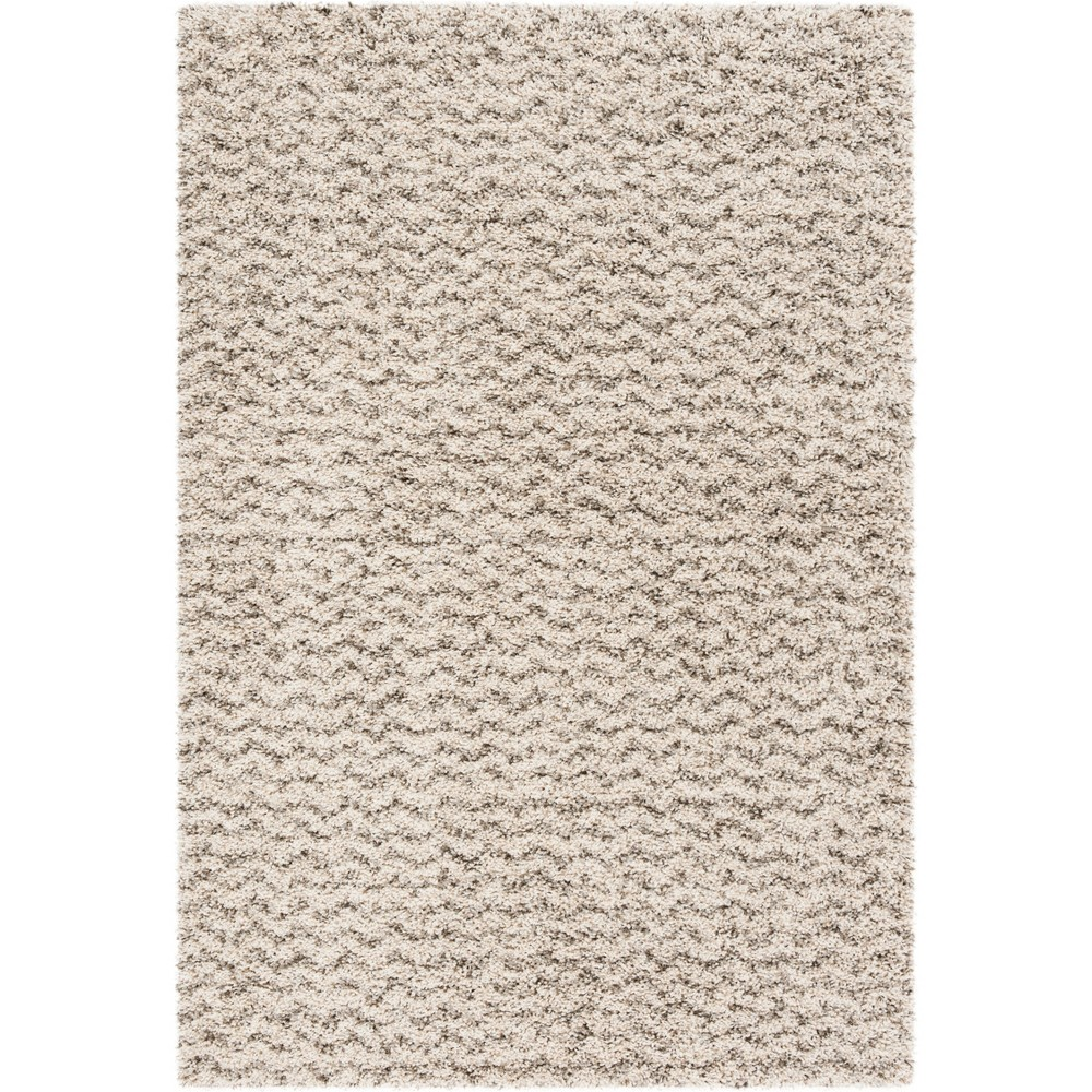 4'X6' Solid Loomed Area Rug Ivory/Gray - Safavieh, White