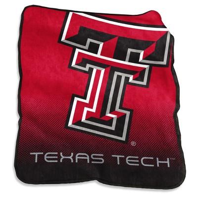 NCAA Logo Brands Raschel Throw Blanket