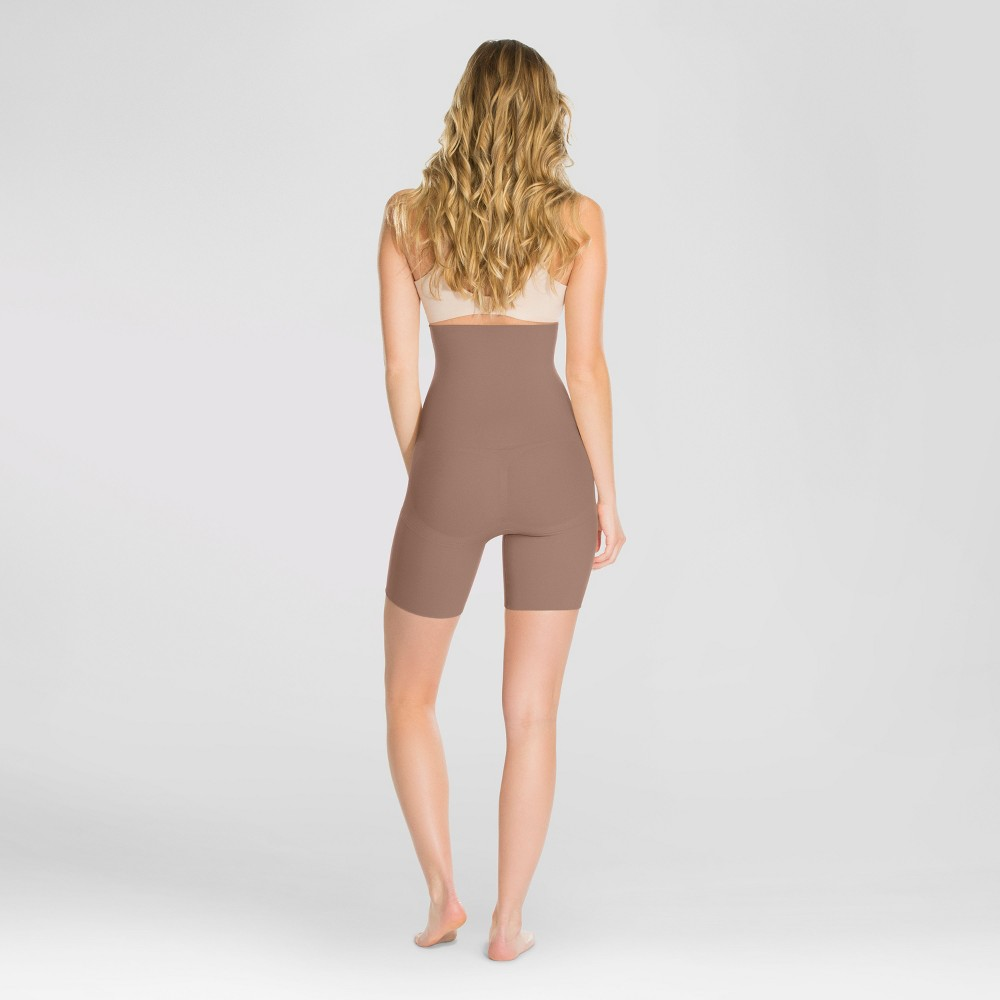 Assets by Spanx Women's Remarkable Results High Waist Midthigh Thigh Shapers - Café Au Lait M