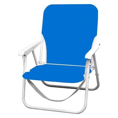Caribbean Joe Folding Beach Chair with Carry Strap - Blue