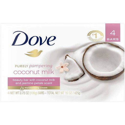 Dove Purely Pampering Coconut Milk Beauty Bar Soap 3 75oz 4ct Target