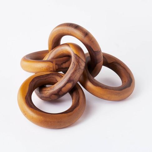 "2.5"" x 17"" Decorative Teak Wood Chain Figurine - Threshold™ designed with Studio McGee - image 1 of 4"