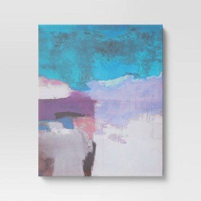 """16"""" x 20"""" Unframed Abstract Wall Canvas Blue/Purple/Pink - Project 62™"""