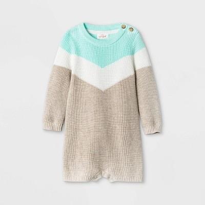 Baby Boys' Chevron Sweater Romper - Cat & Jack™ 0-3M