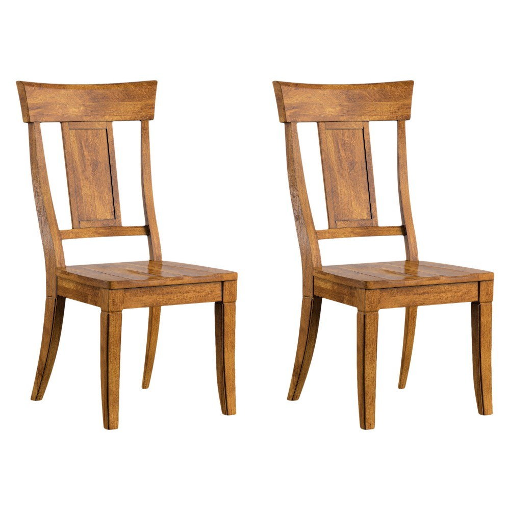 South Hill Panelled Back Dining Chair (Set Of 2) - Oak (Brown) - Inspire Q
