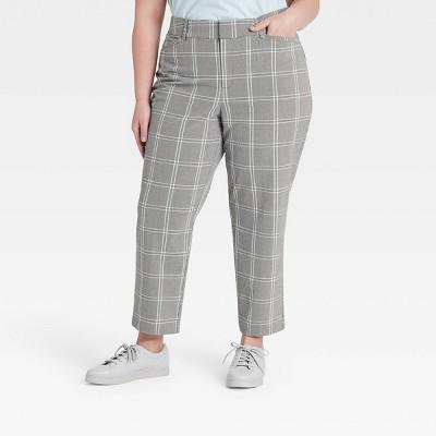 Women's Plus Size Plaid Trousers - Ava & Viv™