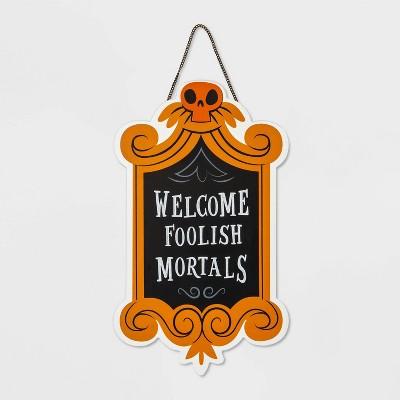 Welcome Foolish Mortals Wooden Halloween Sign - Hyde & EEK! Boutique™