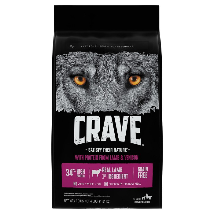 Crave Grain Free Adult Dry Dog Food With Protein From Lamb and Venison - image 1 of 4