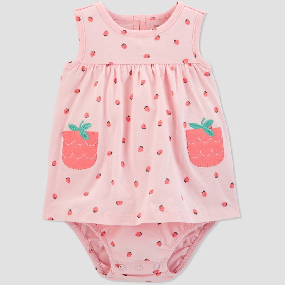 Baby Girls' Strawberry Sunsuit - Just One You made by carter's Pink 12M