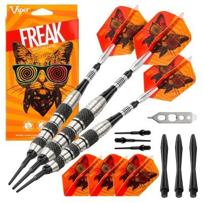 Viper The Freak Soft Tip Darts Knurled and Shark Fin Barrel -18gms