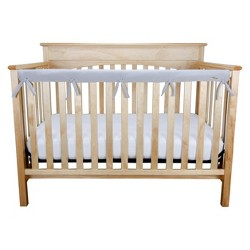 Long Gray Fleece Crib Rail Cover