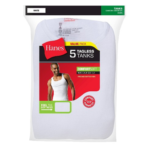 28a30b212a1d19 Hanes Men s Big   Tall 5pk Tanks With Fresh IQ - White 2XL   Target
