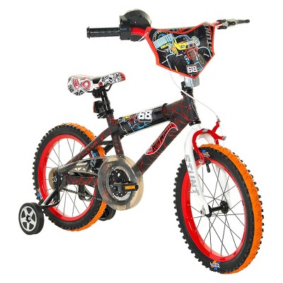 "Hot Wheels 16"" Kids' Bike - Black/Red"
