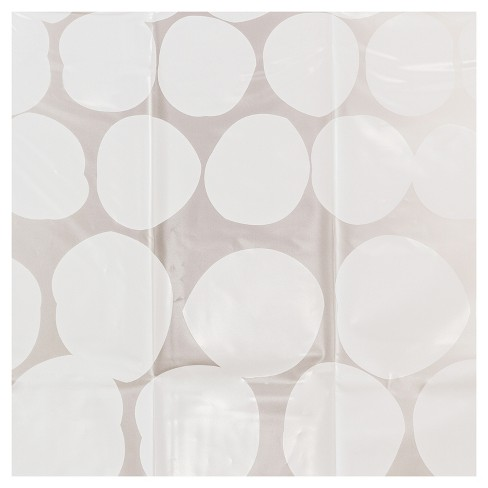 Polka Dots Shower Curtain White