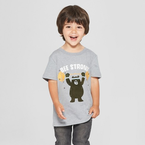 054d6d215 Toddler Boys' Bee Strong Graphic Short Sleeve T-Shirt - Cat & Jack™ Gray :  Target