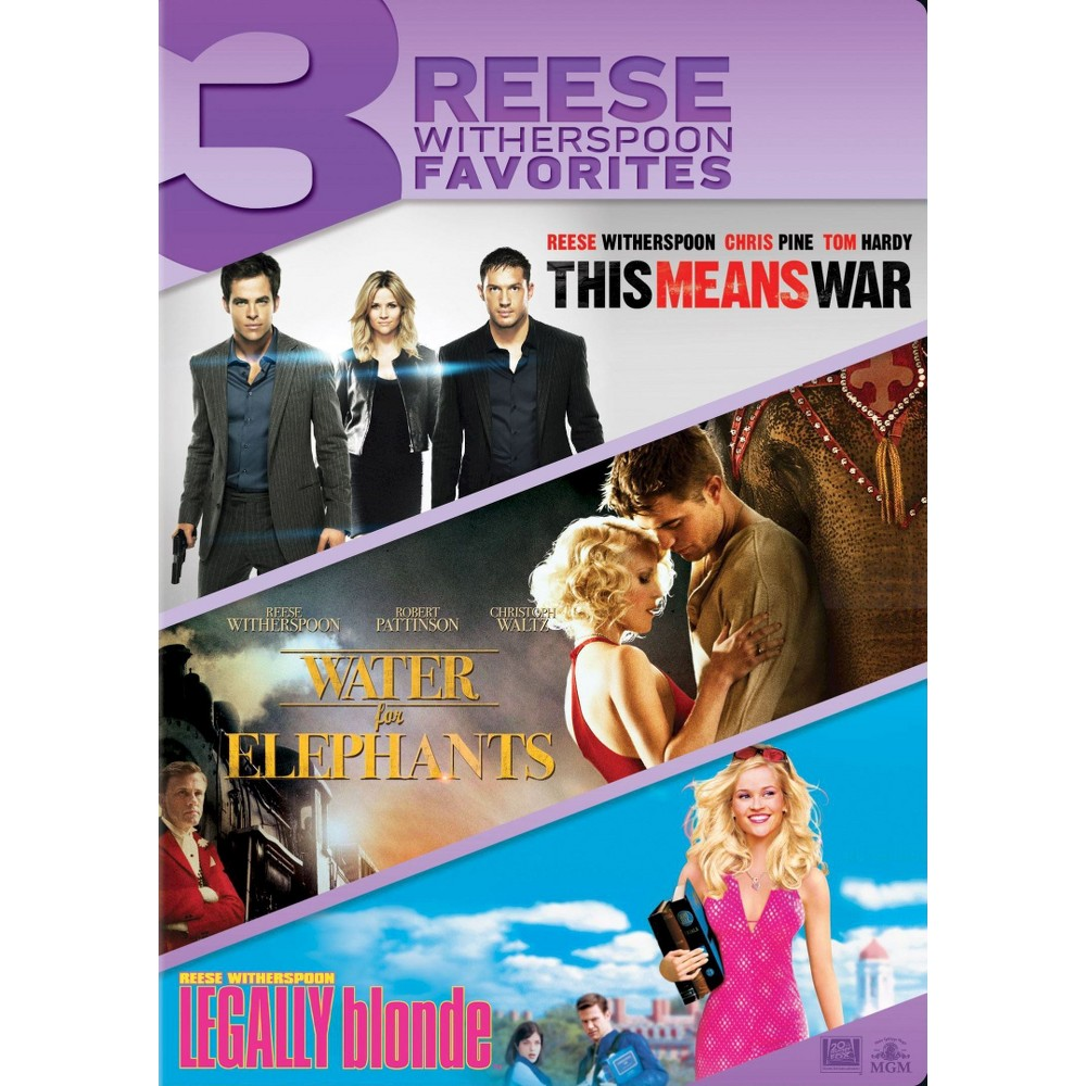 This Means War/Water for Elephants/Legally Blonde (3 Discs) (dvd_video)