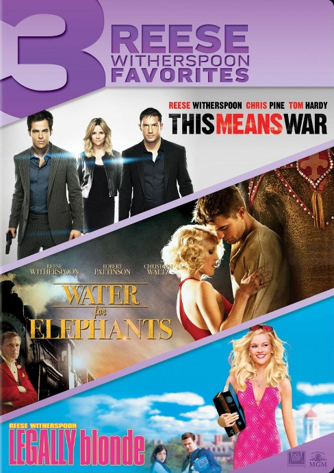 This Means War/Water for Elephants/Legally Blonde (3 Discs) (dvd_video) - image 1 of 1