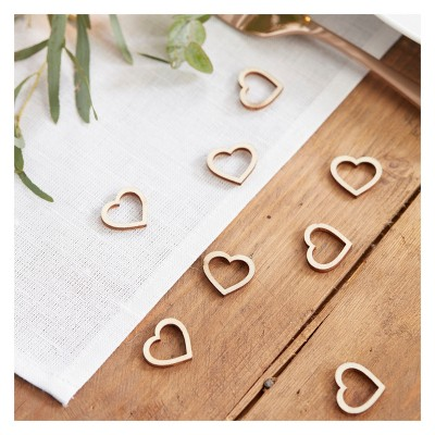 Heart Shaped Wooden Table Confetti