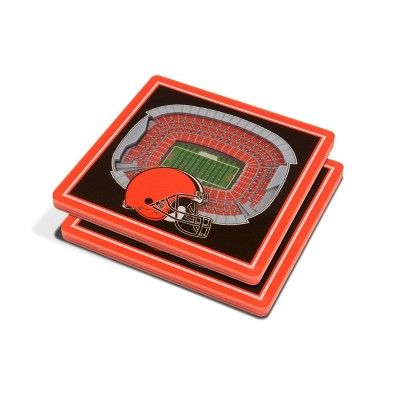 NFL Cleveland Browns 3D StadiumView Coasters