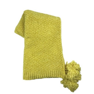 Shiny Chenille Throw with Corner Tassels Yellow - Opalhouse™