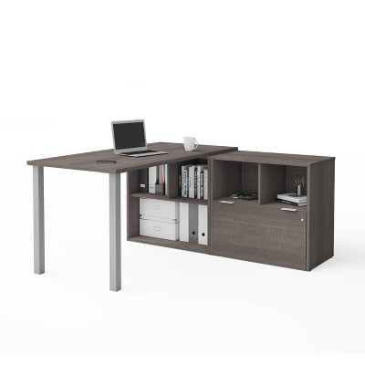 I3 Plus L Desk with One File Drawer - Bestar