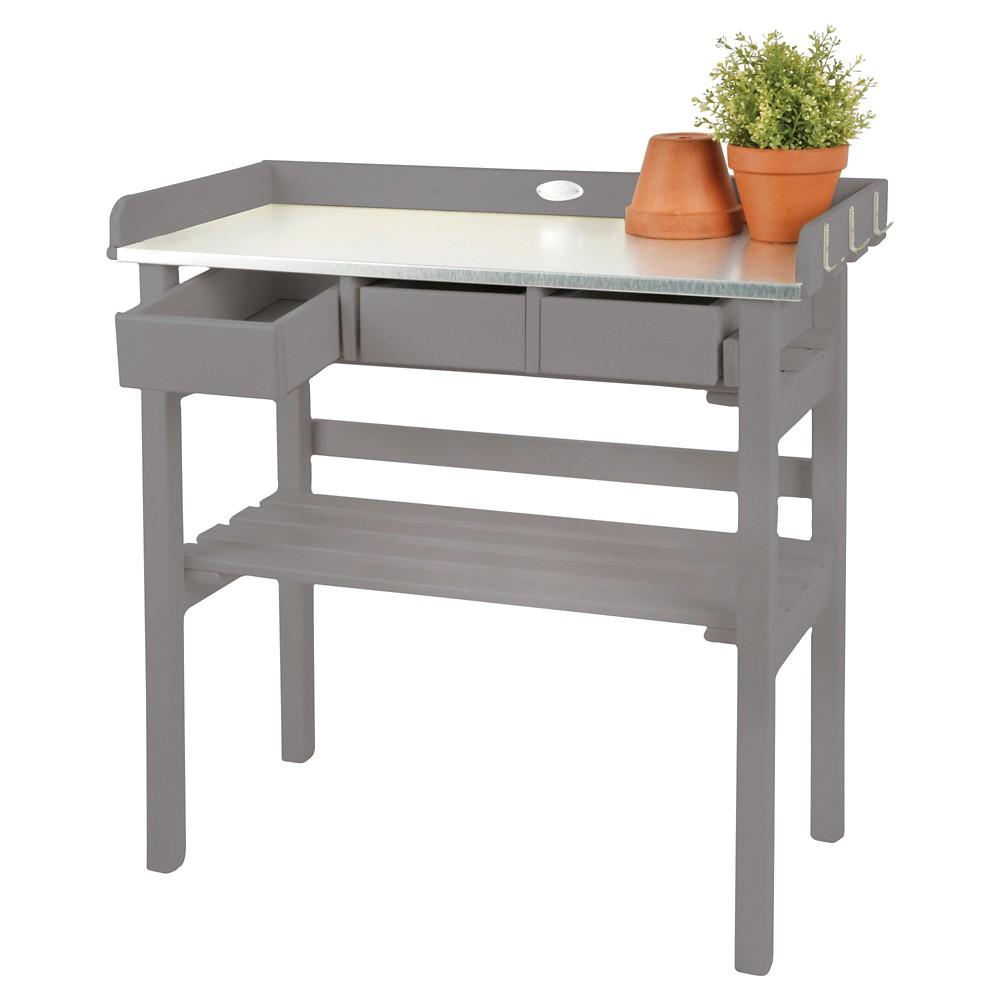 Image of Garden Work Bench-Gray 31x15x32, Light Grey