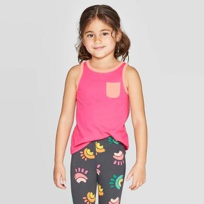 Toddler Girls' Solid Wintex Tank Top - Cat & Jack™ Pink 5T