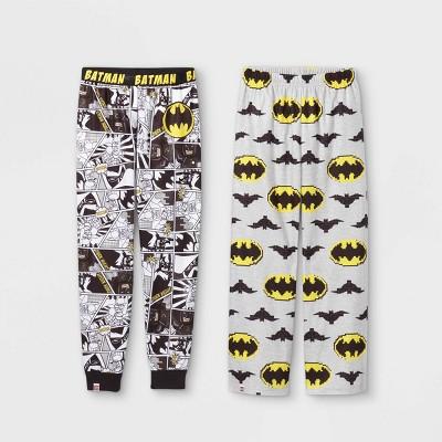 Boys' LEGO Batman 2pc Pajama Pants - Black/Gray