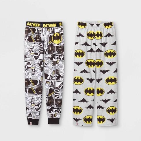 Boys' LEGO Batman 2pc Pajama Pants - Black/Gray - image 1 of 3