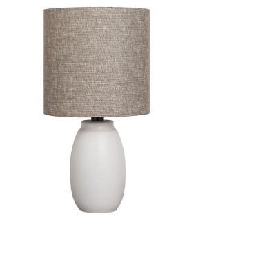 Painted Base Table Lamp White with Tan Shade - Adesso