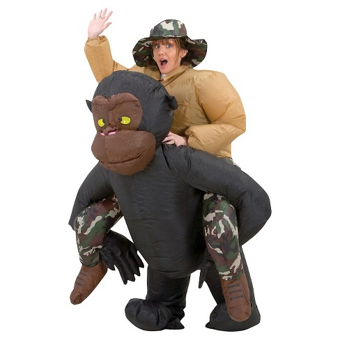 Adult Inflatable Riding Gorilla Costume - image 1 of 1