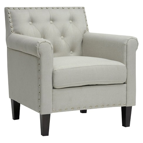 Thalassa Linen Modern Arm Chair Beige - Baxton Studio - image 1 of 5