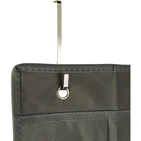Okuna Outpost 2 Pack Over The Door Hanging Shoe Organizer, 24 Pockets, Grey (18 x 63.3 in) - image 1 of 3