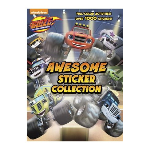blaze and the monster machines awesome sticker collection paperback