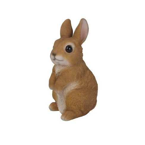 "6.25"" Polyresin Small Standing Rabbit Statue Brown - Hi-Line Gift - image 1 of 1"