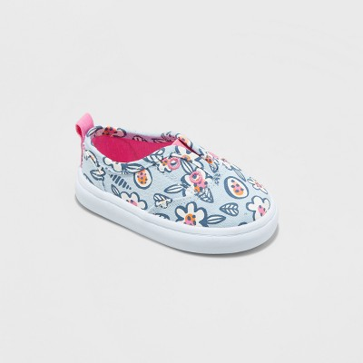 Toddler Girls' Adelaide Low Top Canvas - Cat & Jack™ Blue 3