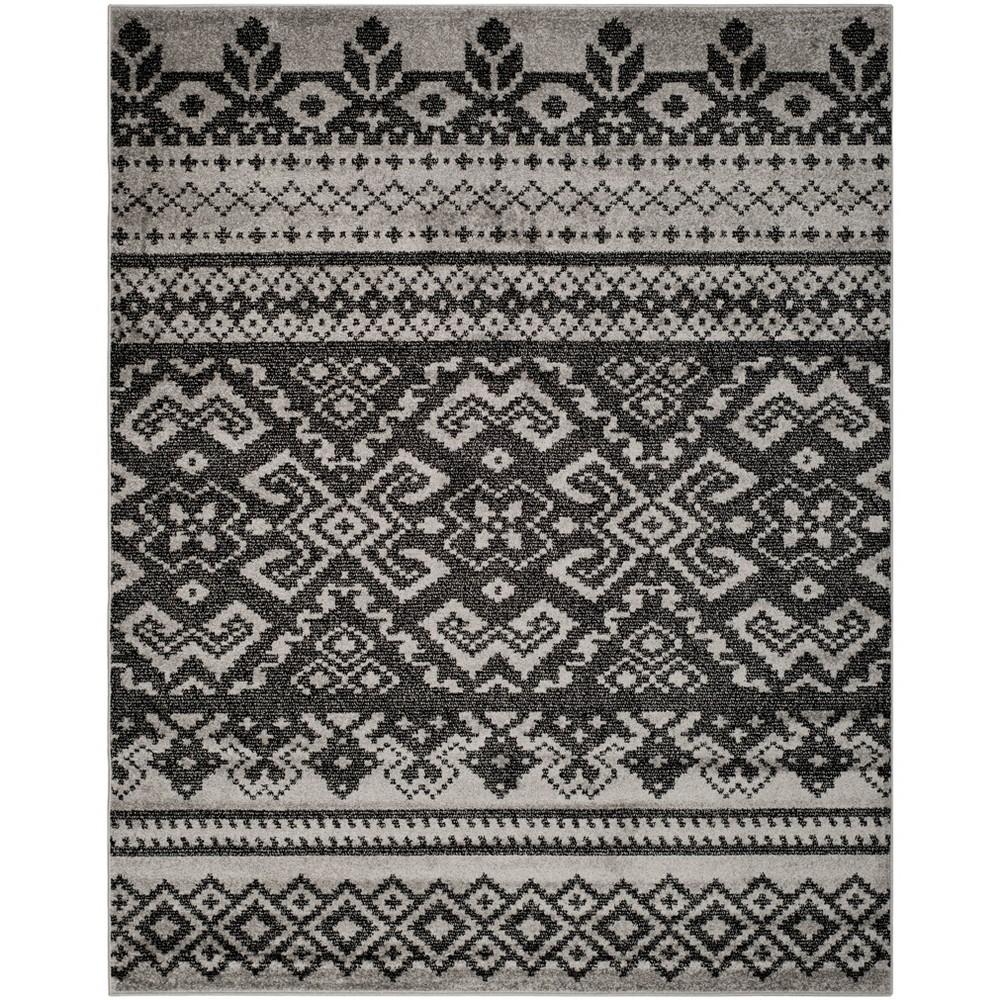 Adron Area Rug - Silver/Black (10'x14') - Safavieh