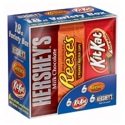 HERSHEY'S Candy Bars Variety Pack - 18ct