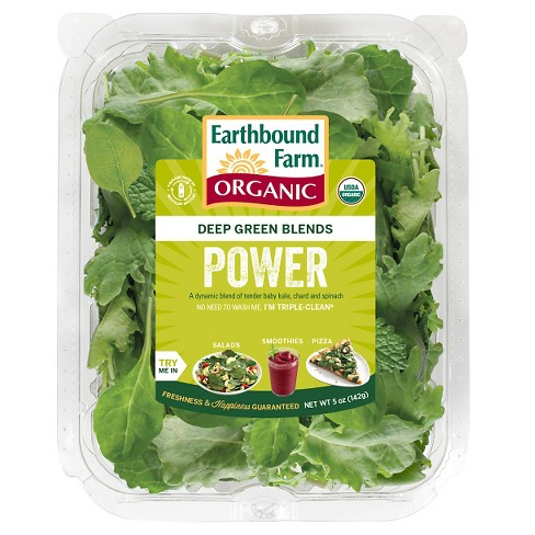 Earthbound Farm Organic Deep Green Blends Power Greens - 5oz Package - image 1 of 1